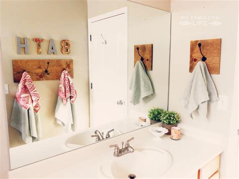 bathroom hand towel hooks diy towel rack my fabuless life