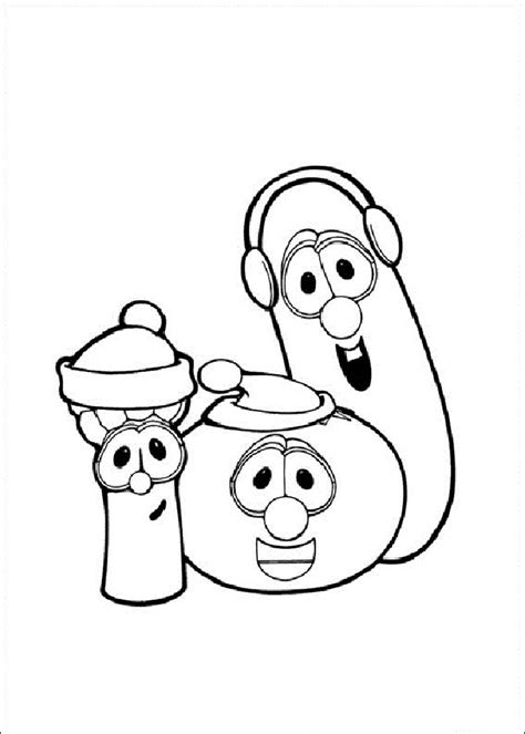 Free Printable Veggie Tales Coloring Pages For Kids Veggietales Coloring Pages