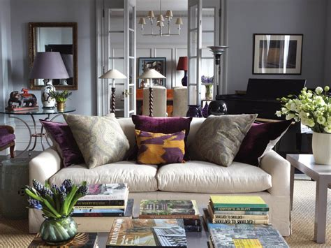 Purple And Gray Living Room Ideas by Photos Hgtv
