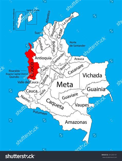 colombia vector map vector map region choco colombia editable stock vector