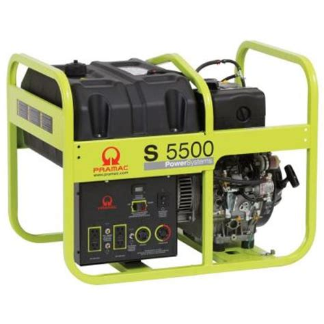 pramac 5 500 watt diesel portable generator with electric