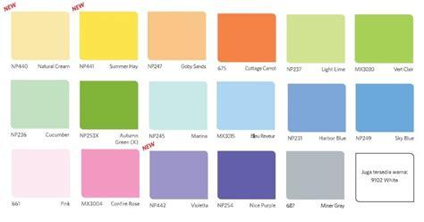 konsep  katalog warna cat vinilex