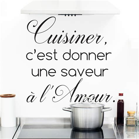 stickers phrase cuisine sticker citation cuisine cuisiner c est donner une saveur