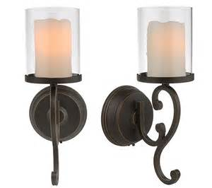 Candle Impressions Wall Sconces Candle Impressions Flameless Candle Wall Sconces W Timer