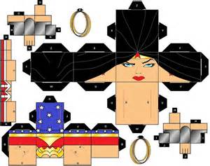 Papercraft Fairs - cubeecraft dc heroes by handita2006 on