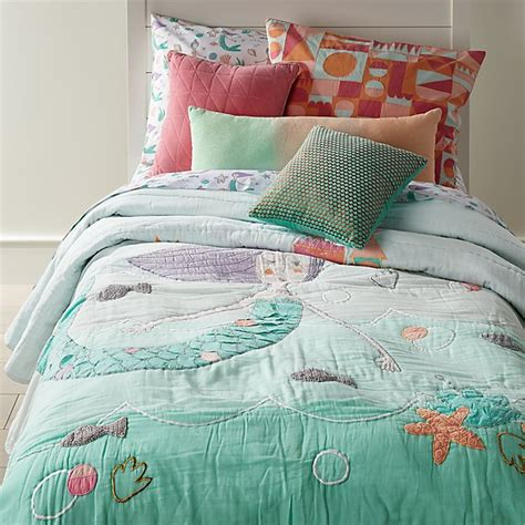 mermaid bedding twin twin mermaid mixer quilt the land of nod