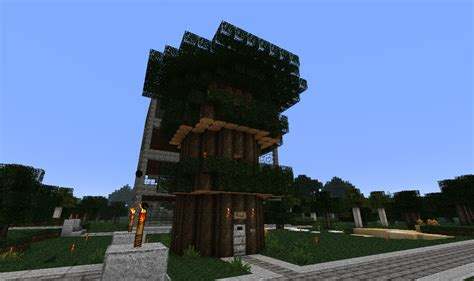 jds gaming blog minecraft creations  tree mansion   green hill sanctuary