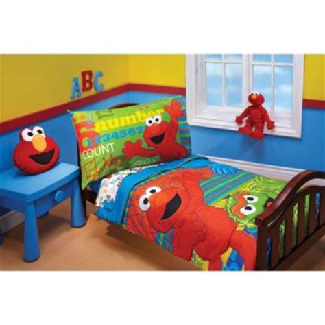 elmo bedroom buy sesame street construction 4 piece toddler bedding set