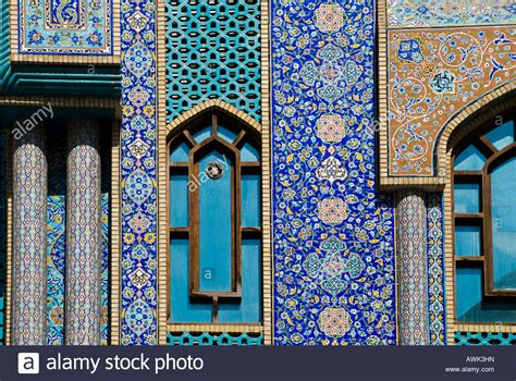 Craftsman Style Architecture Persian Tile Mosiac Work On The Iranian Mosque In Dubai