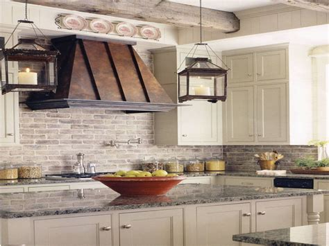 boho chic home decor farmhouse kitchen brick backsplash