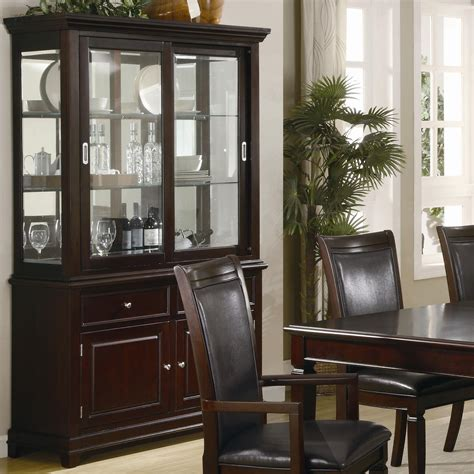 hutch furniture dining room coaster ramona formal dining room buffet with hutch