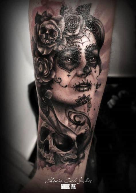 skull face tattoo 20 catrina tattoos on forearm golfian