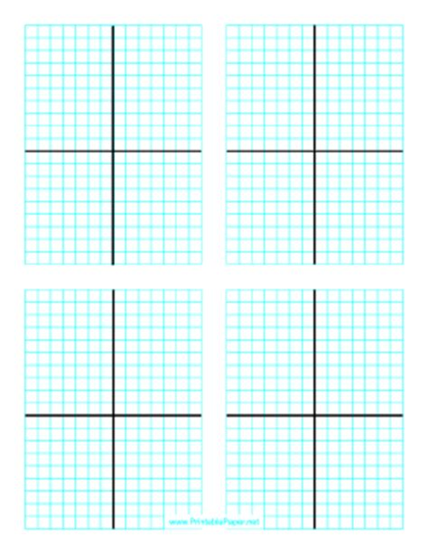 printable page of graphs printable cartesian graph four per page