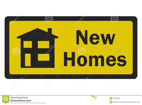 new homes photo realistic sign royalty free stock image