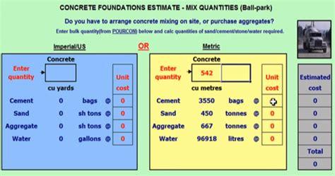 concrete foundation calculator concrete foundation cost