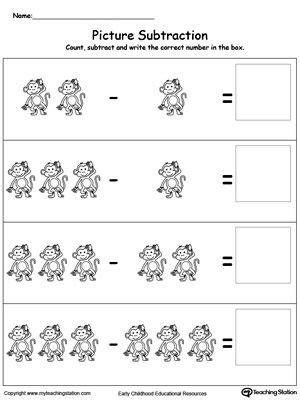 picture subtraction math addition subtraction