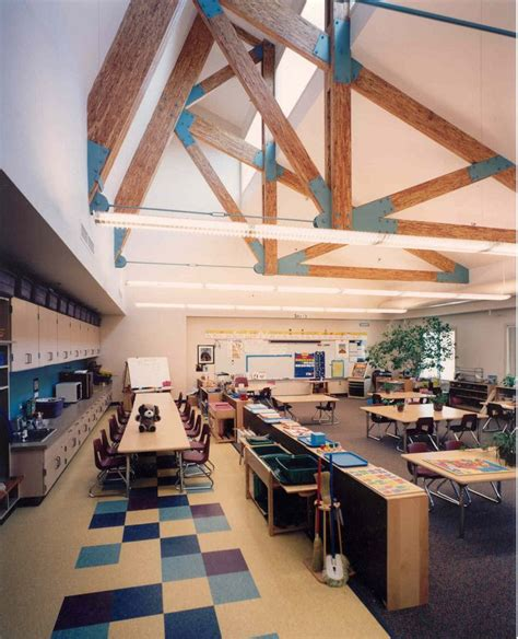 love the light and open space of this design stem lab
