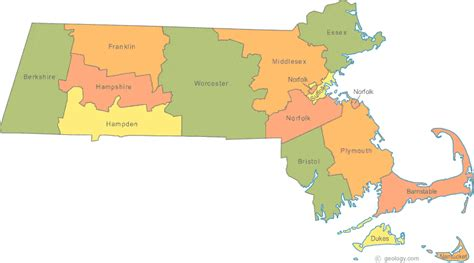 mass map map of massachusetts