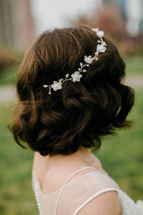 brautfrisur kurze haare bob wedding hairstyles short