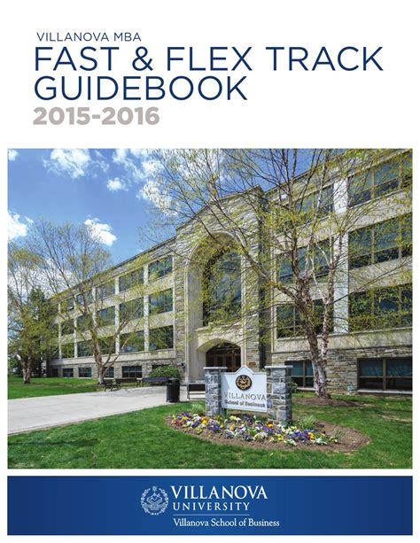 Villanova Mba Ranking 2015 by 2015 Fast Flex Mba Guidebook By Villanova School Of