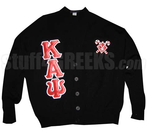 kappa alpha psi letter cardigan with bunny inside