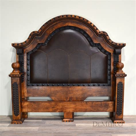 spanish style bedroom furniture alamo stitched leather bed demejico