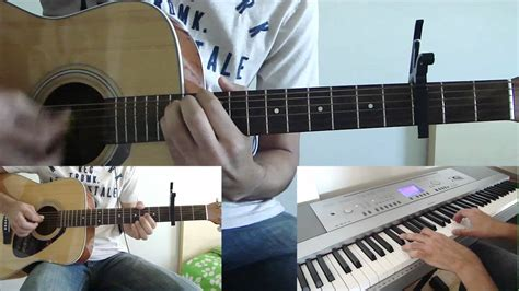 strawberry swing guitar coldplay us against the world cover guitar piano