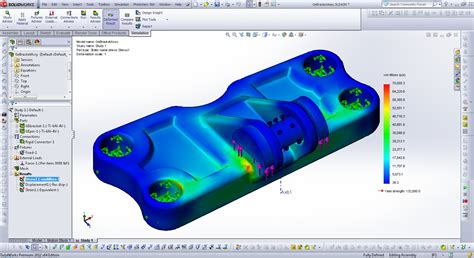 solidworks fea tutorial tutorial how to create a static stress analysis