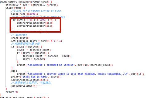 windows critical section windows下使用critical section和mutex实现线程同步实例