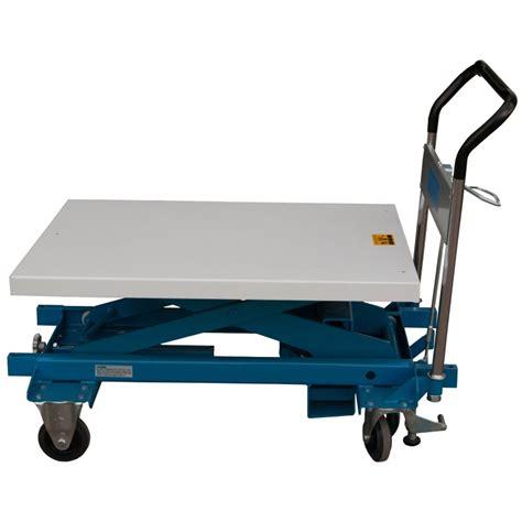 hydraulic scissors lift table 23 75 inch wide x 36 inch