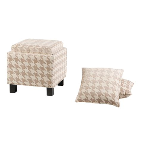 pillow ottomans madison park shelley square storage ottoman with pillows
