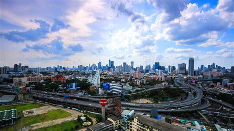 ktime lapse bangkok city landscape stock footage video