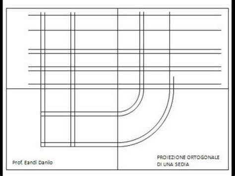 proiezione ortogonale sedia proiezione ortogonale di una sedia