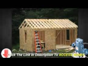 learn how to build a 10x12 storage shed plans learn how to build a shed on a