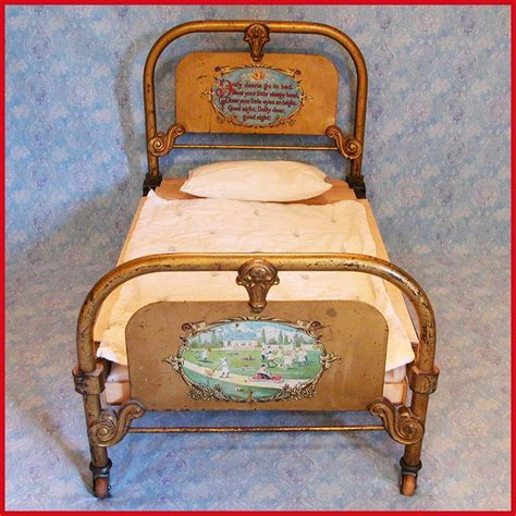 early to bed chicago antique cast iron doll bed by the art bed co chicago il