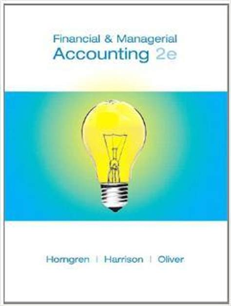 hospitality accounting second edition a financial and managerial accounting reference books downloadable solution manual for financial and managerial