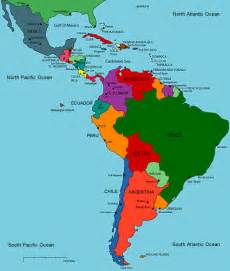 map central america south america obryadii00 physical map of south america and central america