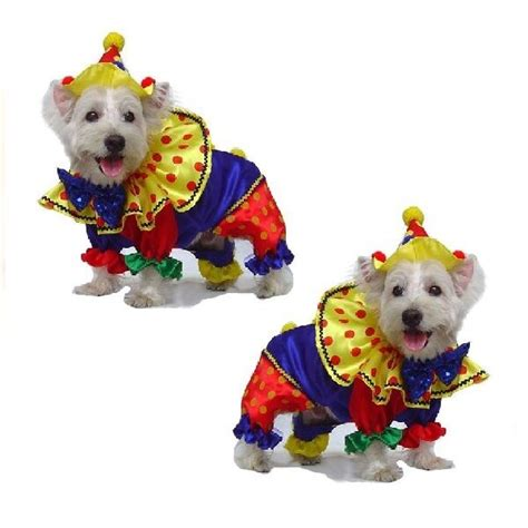 high quality dog costume shiny clown costumes dogs