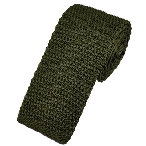 knit ties plain green narrow knitted tie from ties planet uk
