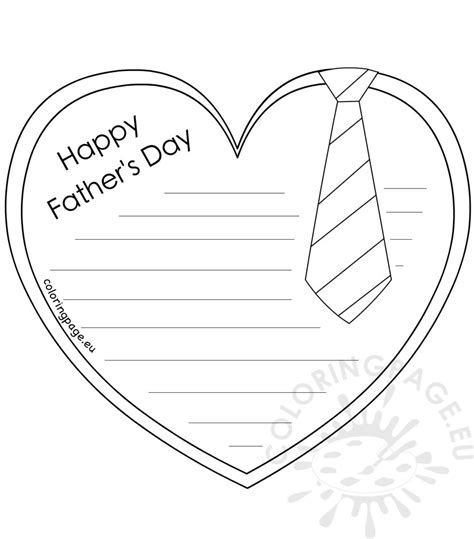 fathers day template s day letter template coloring page