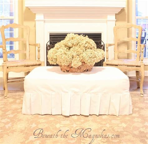 how to make a slipcover for an ottoman beneath the magnolias how to make a slipcover for an