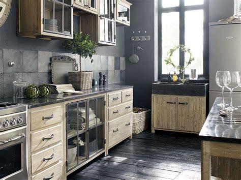 deco cuisine bois mettez du noir dans la cuisine joli place