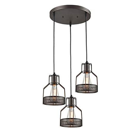 hanging dining room light fixtures truelite industrial 3 light dining room pendant rustic oil