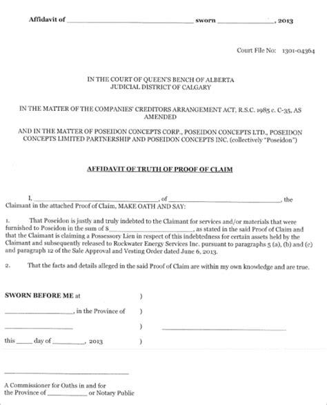 affidavit template florida 77 affidavit form templates free pdf exles creative
