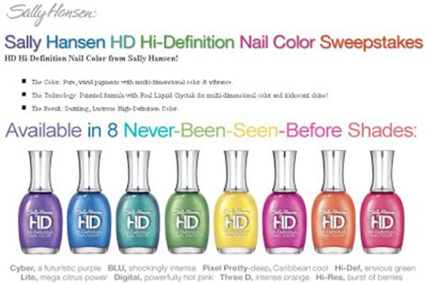 Meaning Of Sweepstakes - sally hansen hd nail polish all lacquered up
