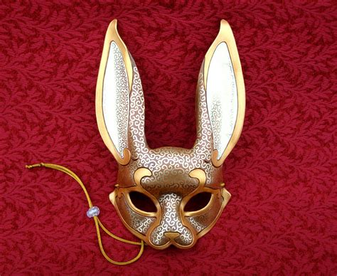 Handmade Venetian Masks - venetian rabbit mask v15 handmade leather rabbit by