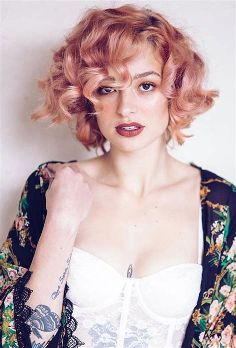 vintage hairstyles for thin hair vintage curly bob www pixshark com images galleries