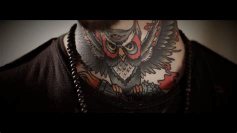 owl neck tattoo lucky neck owl neck on tattoochief