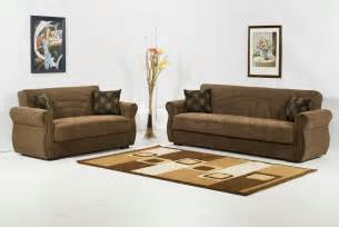 Loveseat Bed Rain 2 Pc Sofa Set Mimoza Brown Sofa Sets Klm Rain Br