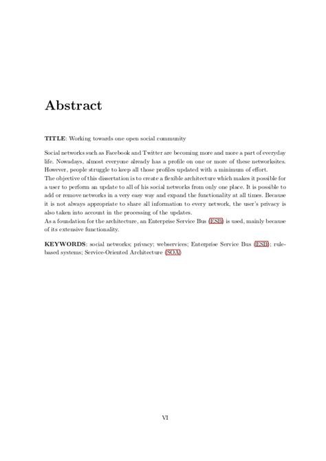 abstract van thesis scriptie